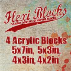 PaperArtsy Flexi Blocks - 4 blocs acryliques