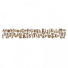 Alphabetical Sizzlits Decorative Strip Alphabet Die