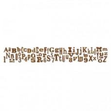Alphabetical Sizzlits Decorative Strip Alphabet Die