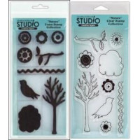 Nature - Set of Clear & Foam Stamps by Claudine Hellmuth