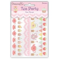 Tea Party Clear Stamps - Borders