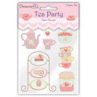 Tea Party Clear Stamps - Cream Tea