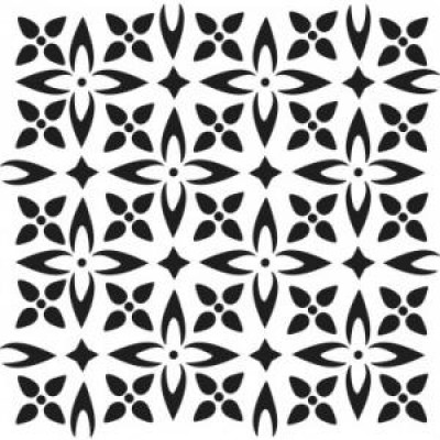 "Mini Flower Piecing template 6x6"""
