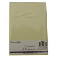 10 Cream cards & envelopes C6