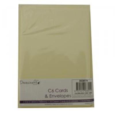 10 Cream cards & envelopes C6