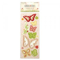 Garden Party 3D Butterfly Stickers
