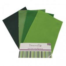 Feutrine Verts - 8 x A4