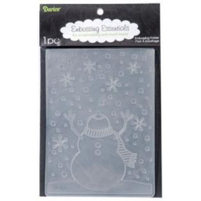 Snowman Embossing folder Darice