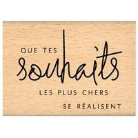 CHERS SOUHAITS Wood Mounted Stamp Florilèges Design