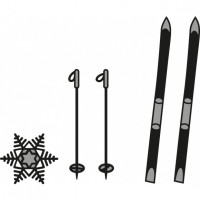 Marianne Design Craftables skis and snowflake