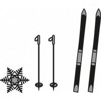 Marianne Design Craftables skis et flocon de neige