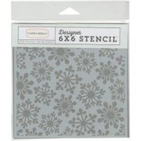 "Carta Bella Stencil - Pointed Snowflakes - 6"" x 6"""
