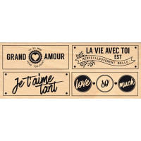So Much Love - Wood Mounted Florilège Stamp
