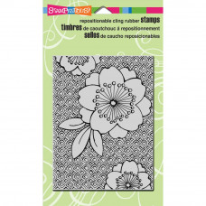 Stampendous Cherry Print cling rubber stamp