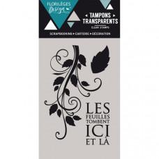 LES FEUILLES TOMBENT - tampons transparents - Florilège