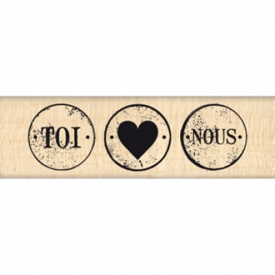 TROIS PETITS RONDS-  Wood Mounted Florilège Stamp