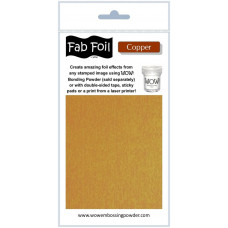 WOW! Fab foil transfer sheets - Copper