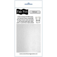 WOW! Fab foil transfer sheets - Bright Silver
