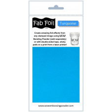 WOW! Fab foil transfer sheets - Turquoise