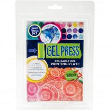 Gel Press Plate - Plaque d'impression réutilisable 12.5 x 17.5cm